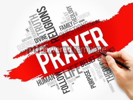 Business: Prayer word cloud collage religion concept #17729
