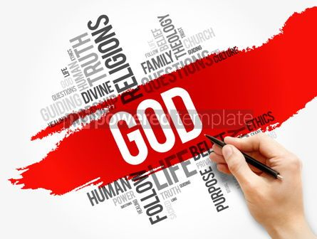 Business: GOD word cloud collage religion concept #17730