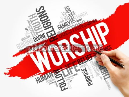 Business: Worship word cloud collage social concept #17731