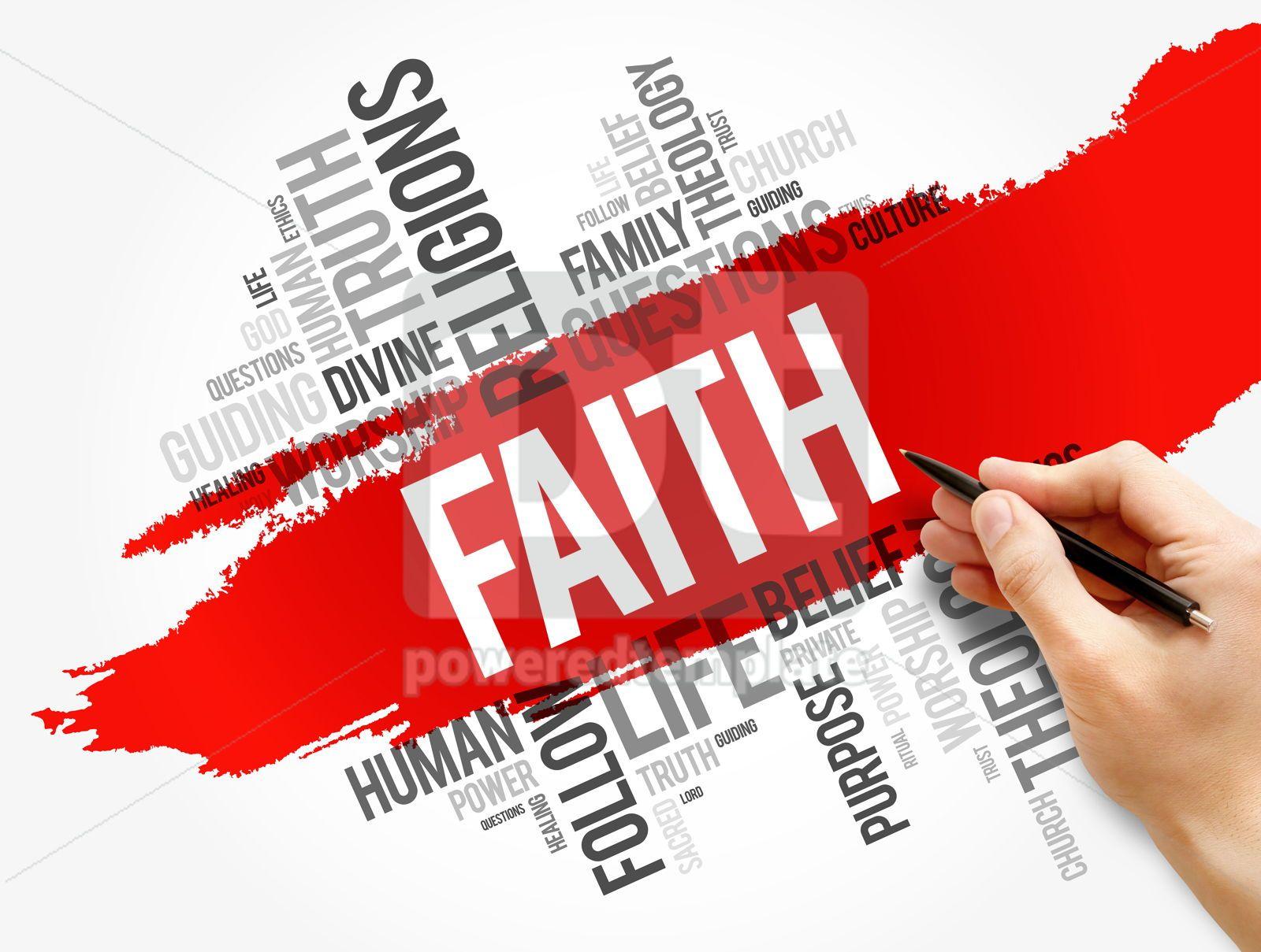 Faith word cloud collage social concept, 17732, Business — PoweredTemplate.com