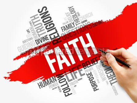 Business: Faith word cloud collage social concept #17732