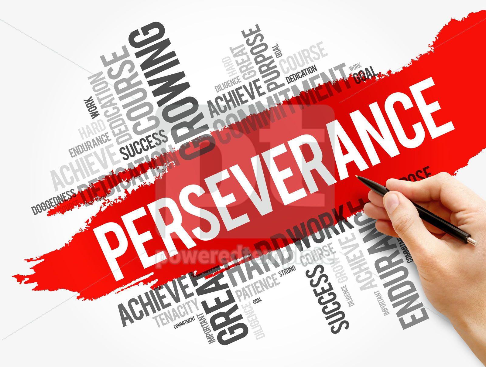 Perseverance word cloud collage, 17733, Business — PoweredTemplate.com