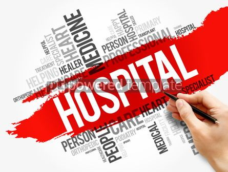 Business: Hospital word cloud collage healthcare concept #17738