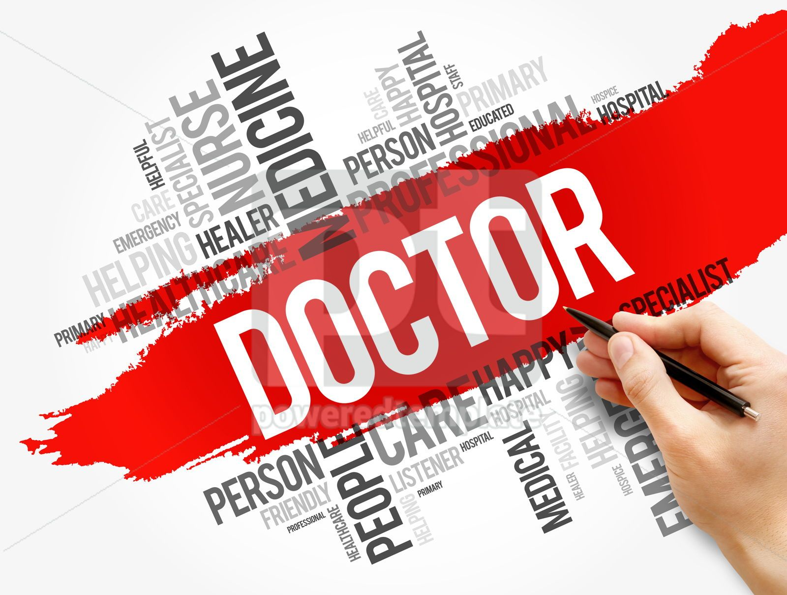 Doctor word cloud collage healthcare concept, 17742, Business — PoweredTemplate.com