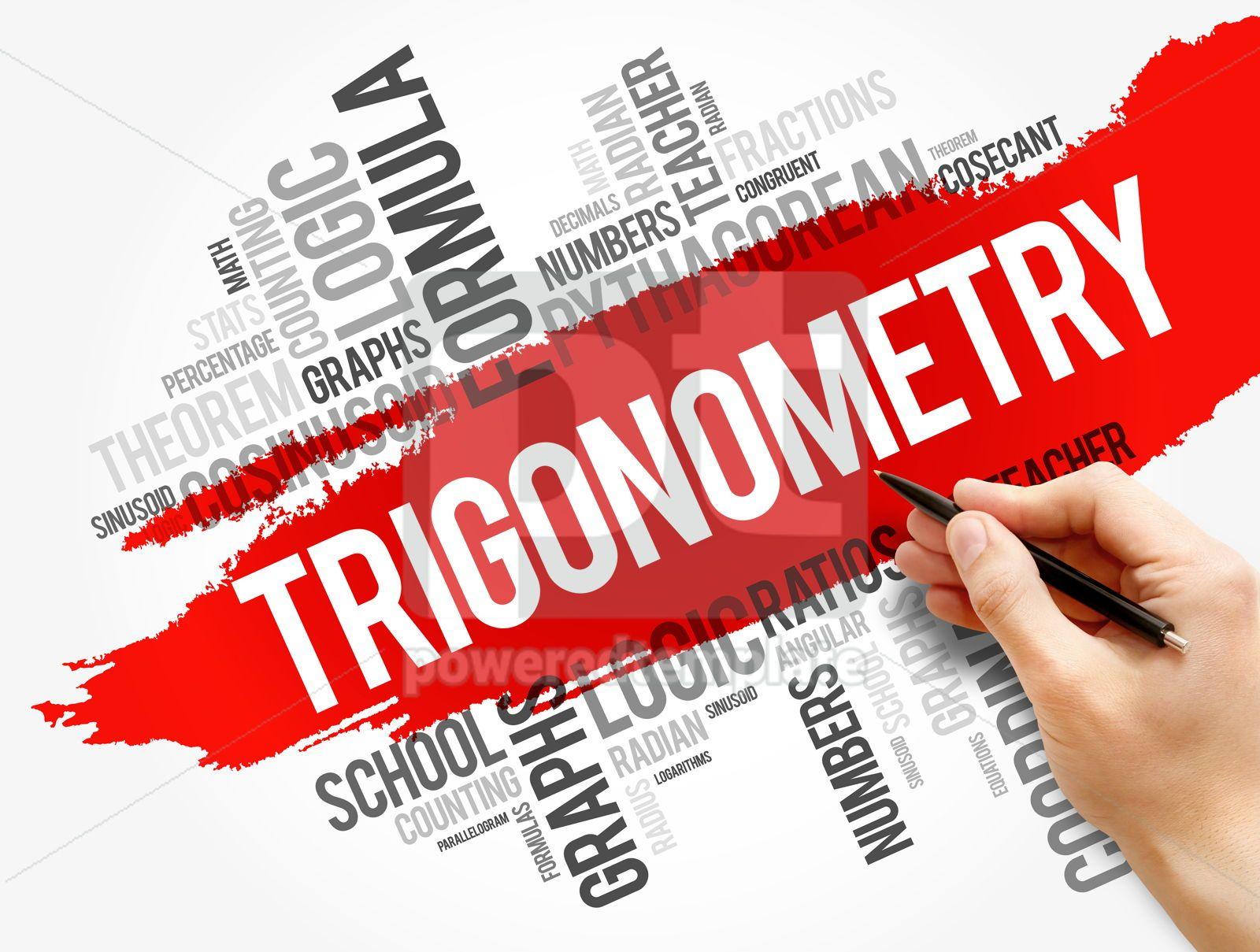 Trigonometry word cloud collage, 17743, Business — PoweredTemplate.com