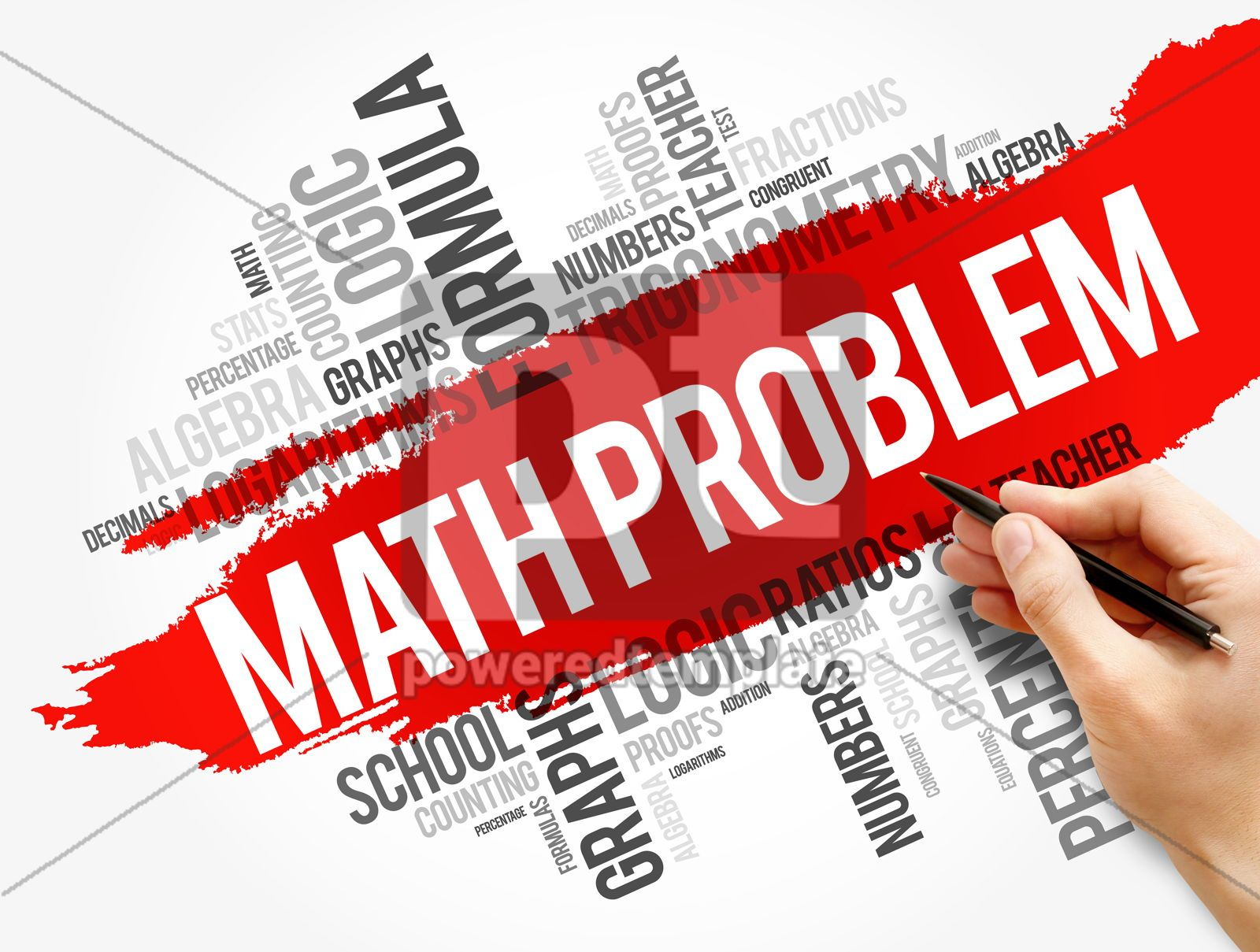 Math problem word cloud collage, 17744, Business — PoweredTemplate.com