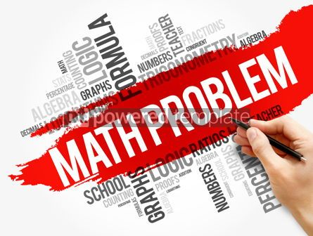 Business: Math problem word cloud collage #17744