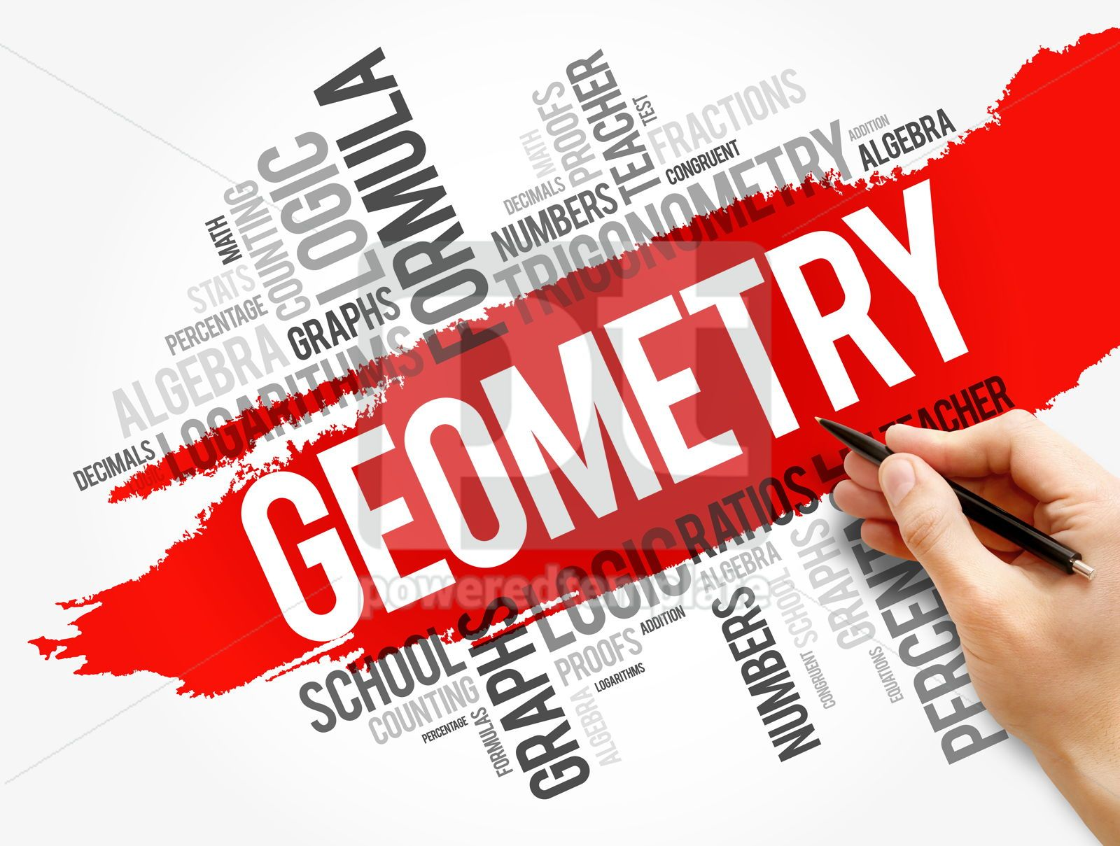 Geometry word cloud collage education concept, 17746, Business — PoweredTemplate.com