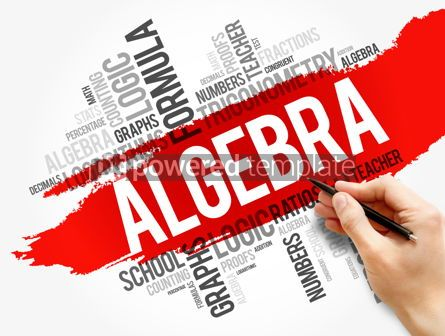 Business: Algebra word cloud collage education concept #17747