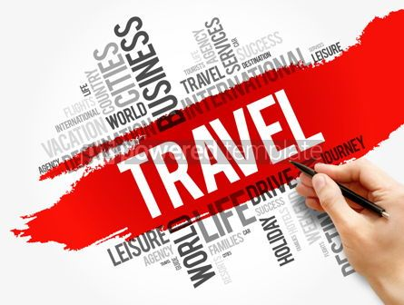 Business: Travel word cloud collage concept background #17749