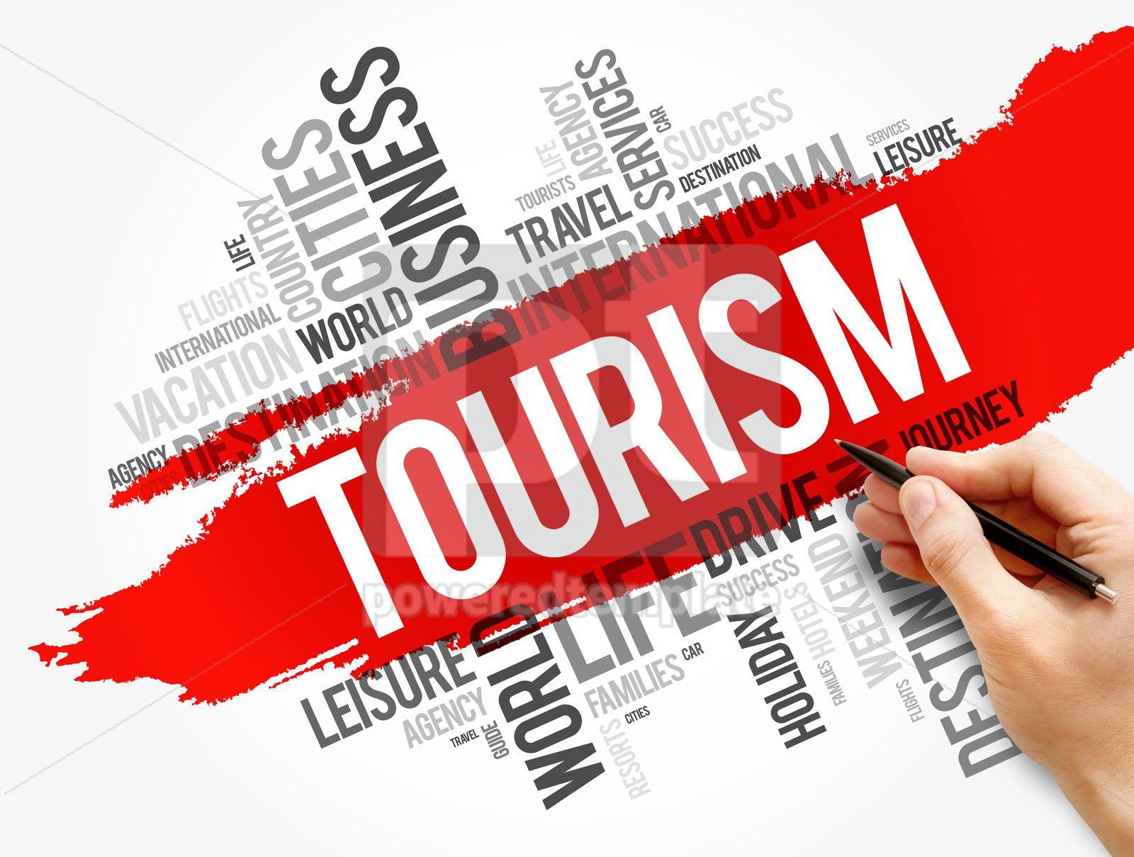 Tourism word cloud collage travel concept, 17750, Business — PoweredTemplate.com