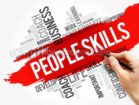 Business: People Skills word cloud collage business concept #17752