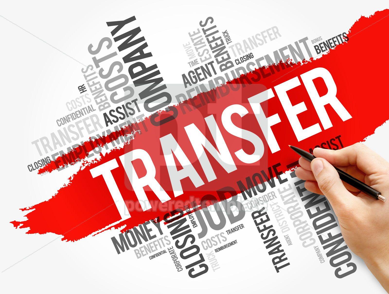 Transfer word cloud collage business concept, 17753, Business — PoweredTemplate.com