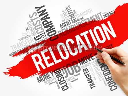 Business: Relocation word cloud collage business concept #17754
