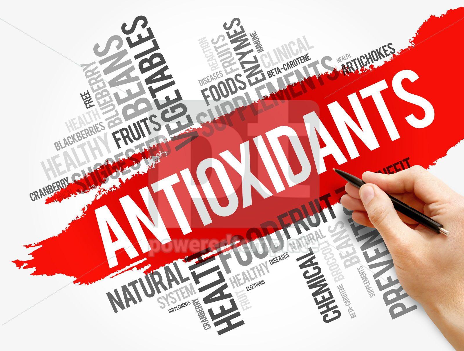 Antioxidants word cloud collage health concept, 17758, Business — PoweredTemplate.com