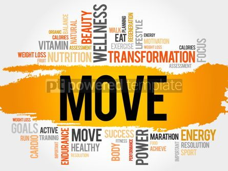 Business: MOVE word cloud fitness sport #17785