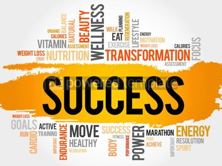 Business: SUCCESS word cloud fitness sport #17786