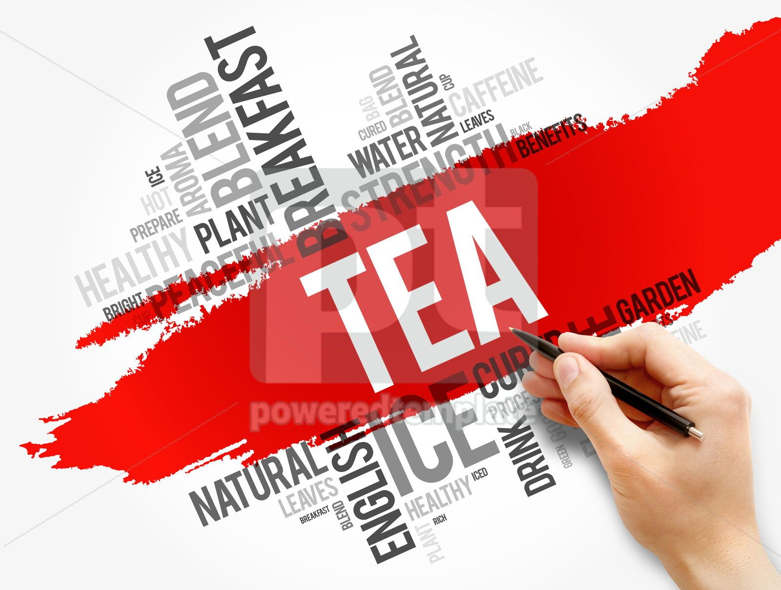TEA word cloud collage food and drink concept, 17788, Business — PoweredTemplate.com