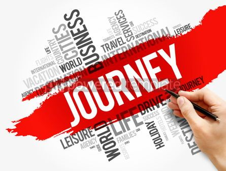 Business: Journey word cloud collage travel concept #17791
