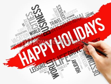 Business: Happy Holidays word cloud collage #17792