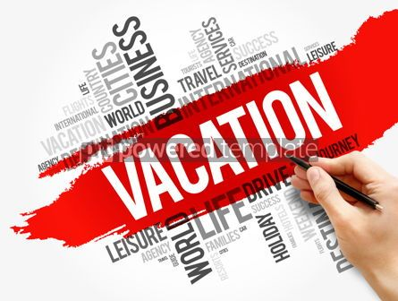 Business: Vacation word cloud collage travel concept #17793