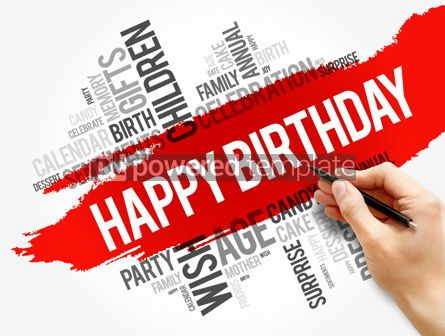 Business: Happy Birthday word cloud collage holiday concept #17811