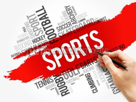 Business: Sports word cloud collage hobbies and leisure #17817