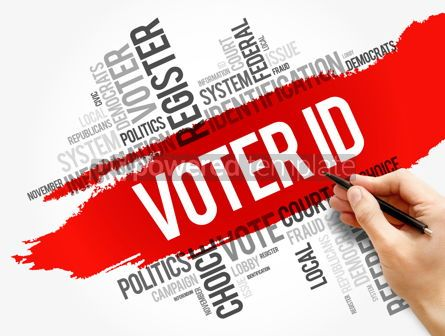 Business: Voter ID word cloud collage social concept #17826