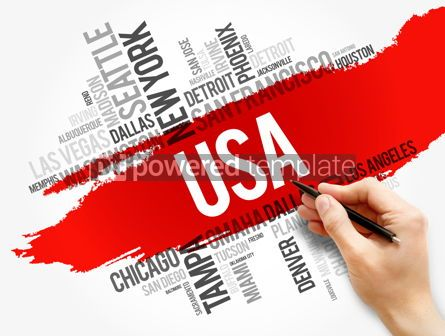 Business: USA cities names words cloud collage #17827