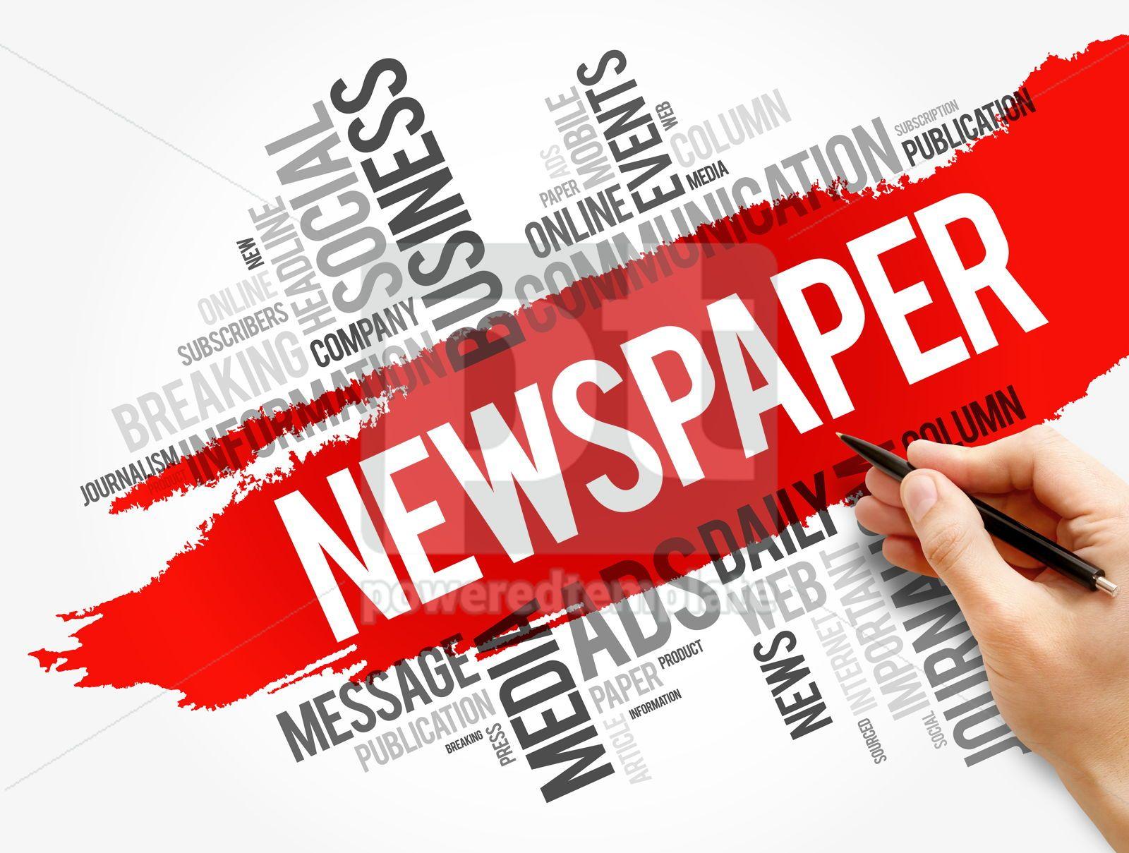 Newspaper word cloud collage business concept, 17834, Business — PoweredTemplate.com