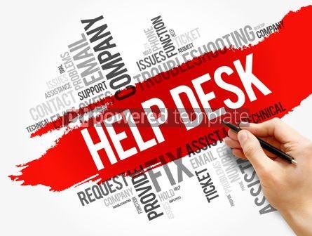 Business: Help Desk word cloud collage business concept #17855