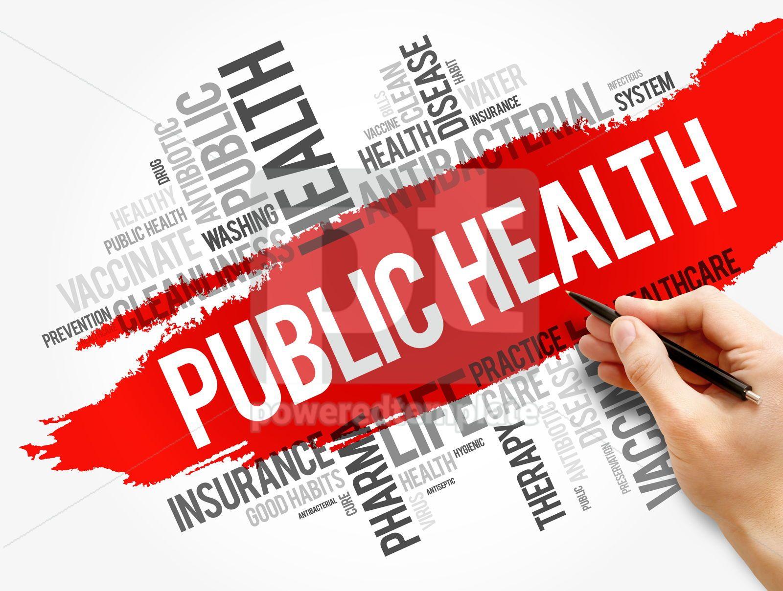 Public health word cloud collage healthcare concept, 17861, Business — PoweredTemplate.com