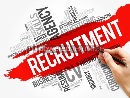 Business: Recruitment word cloud collage business concept #17865