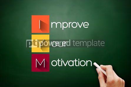 Business: IYM - Improve Your Motivation acronym concept #17868