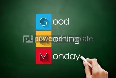 Business: GMM - Good Morning Monday acronym concept #17869