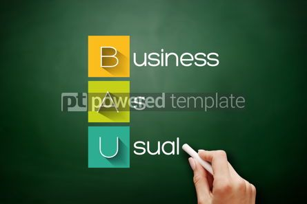 Business: BAU - Business as Usual acronym business concept #17873