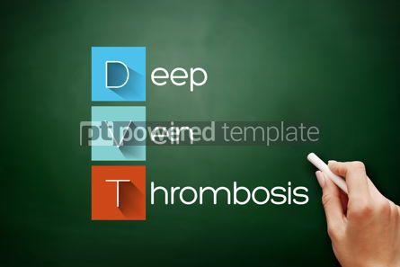 Business: DVT - Deep Vein Thrombosis acronym concept #17878