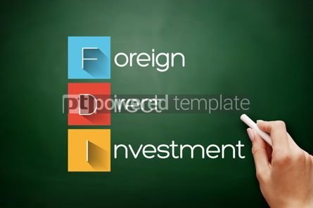Business: FDI - Foreign Direct Investment acronym concept #17883