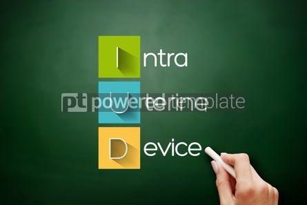 Business: IUD - Intra Uterine Device acronym medical concept #17885