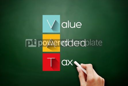 Business: VAT - Value Added Tax acronym business concept #17888