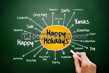 Business: Happy Holidays mind map holiday concept #17893