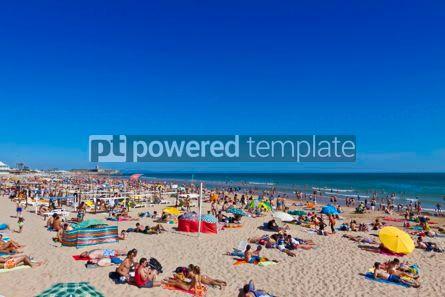 Nature: People sunbathing on Atlantic beach in Carcavelos Portugal #17926