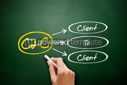 Business: Hand drawn Client To Client c2c business concept #17930