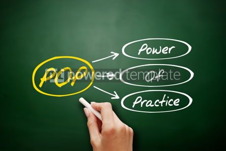 Business: POP - Power Of Practice acronym concept #17943