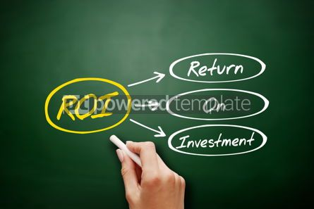 Business: Return On Investment ROI acronym concept #17948