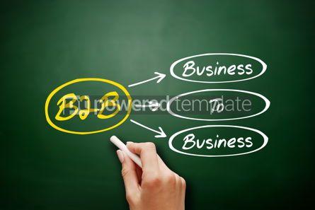 Business: B2B - Business To Business acronym on blackboard #17953