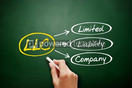 Business: Hand drawn LLC - Limited Liability Company acronym #17955
