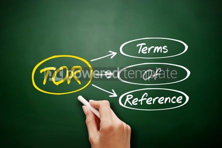 Business: Hand drawn TOR - Terms of Reference acronym #17957