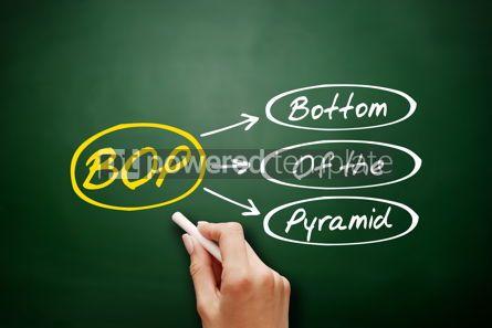 Business: Hand drawn BOP - Bottom of the Pyramid acronym #17958