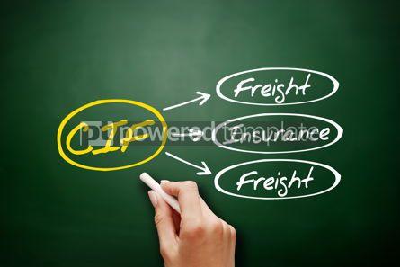 Business: CIF - Cost Insurance Freight acronym on blackboard #17962